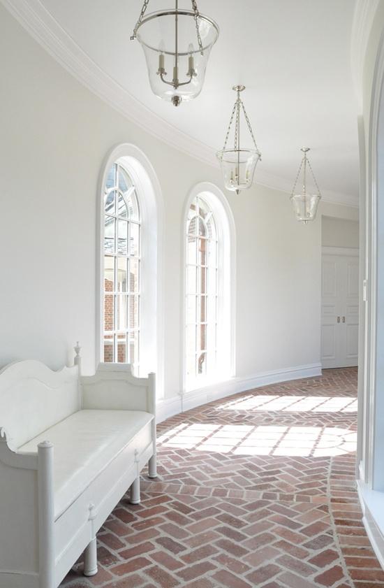 Herringbone Brick Hallway