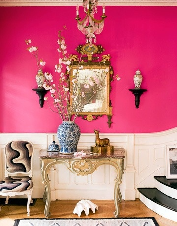 Hot Pink Statement Entryway