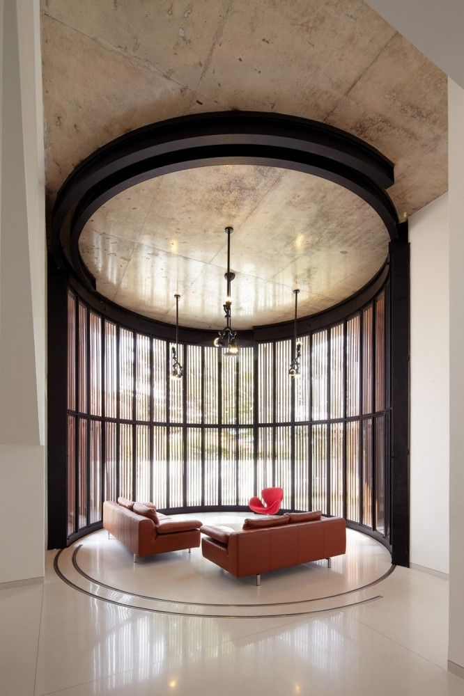 Elegant Seating Area with Operable Translucent Panels