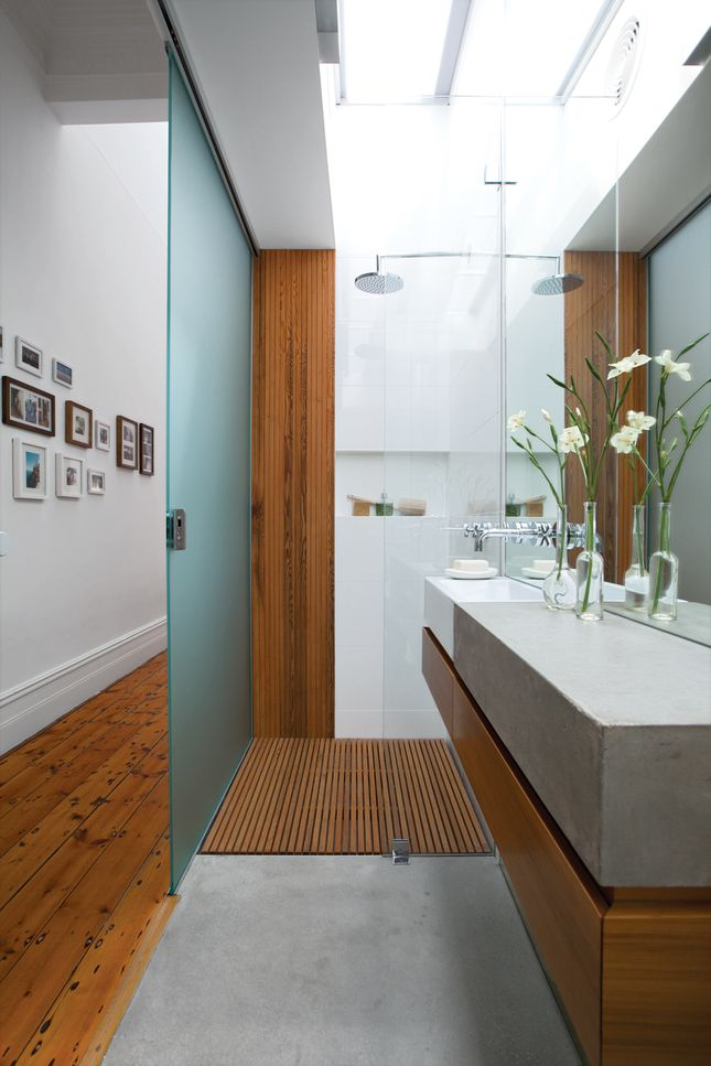 Modern Bathroom with Skylighting