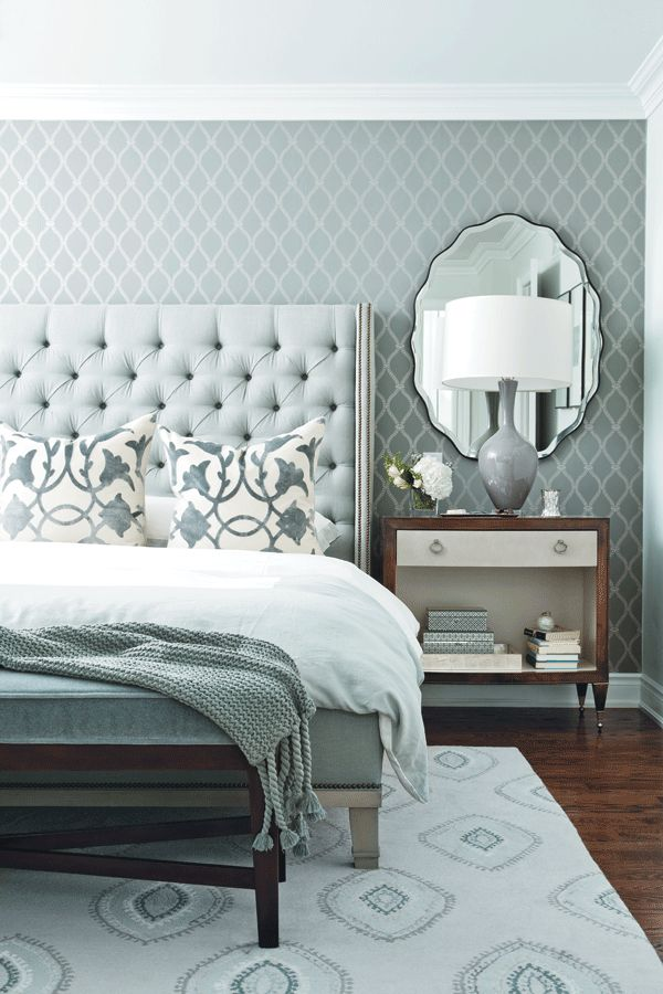 Pale Blue Monochrome Bedroom