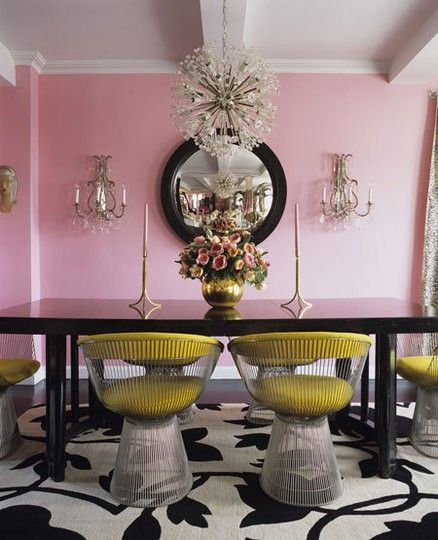Pastel Pink Dining Room