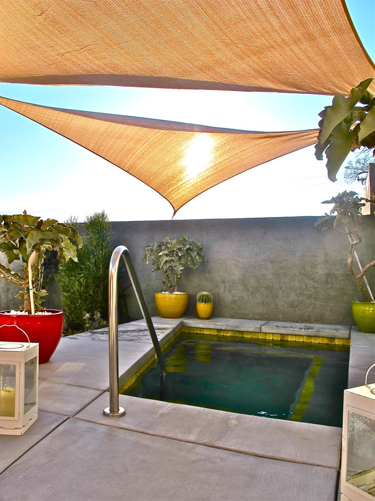 Pool With Gold Tensile Canopy