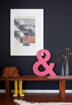 Pop of Pink Entryway