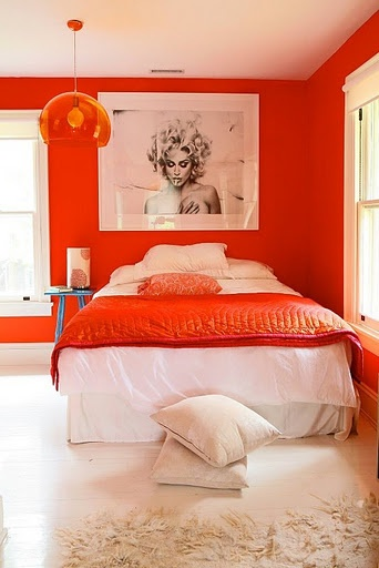 Red Feminine Bedroom Design