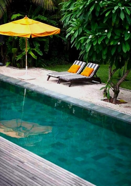 Resort Style Pool with Faux Beach