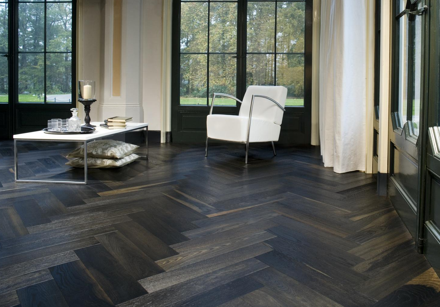 Rich And Dark Parquet Floor
