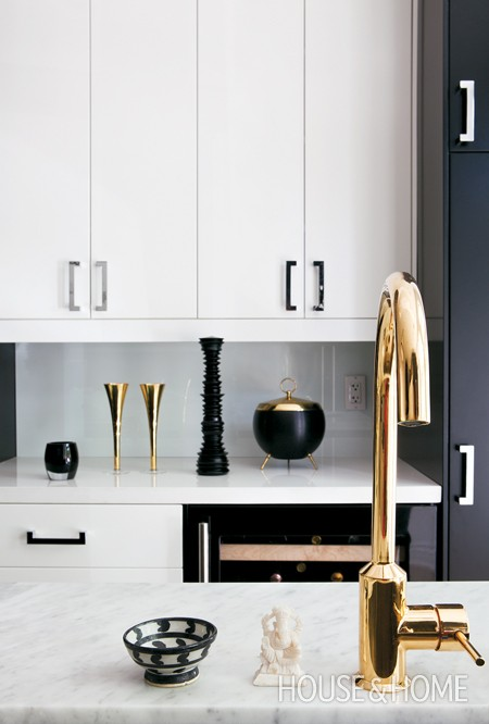 Shiny Gold Kitchen Fixtures