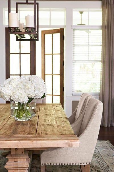 Sophisticaed Rustic Dining Room