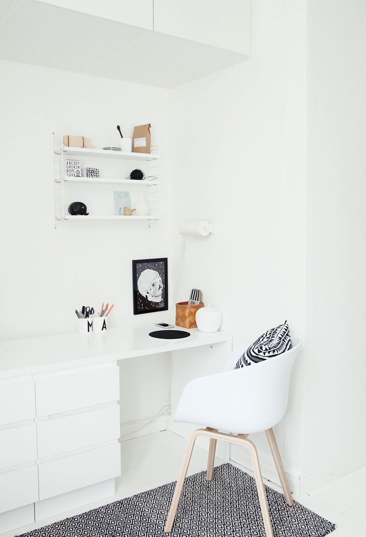 Stark White Workspace