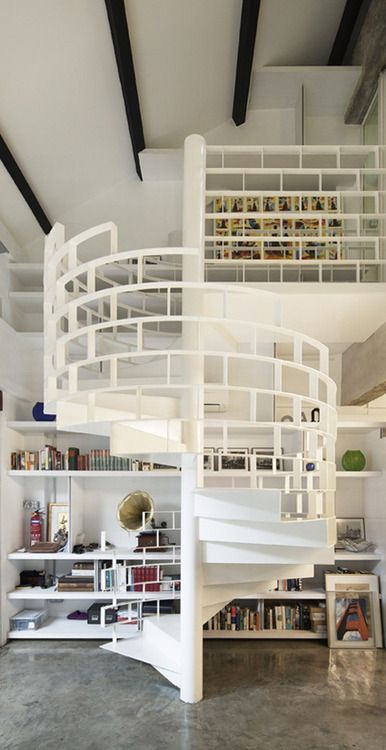 Striking Spiral Staircase