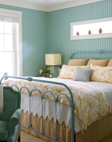 Seafoam Blue Guest Bedroom