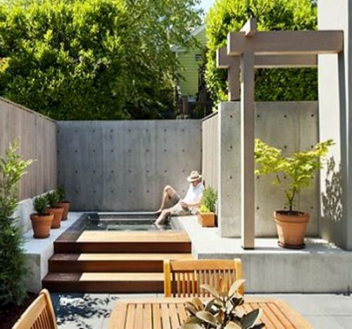 Wood and Concrete Outdoor Space