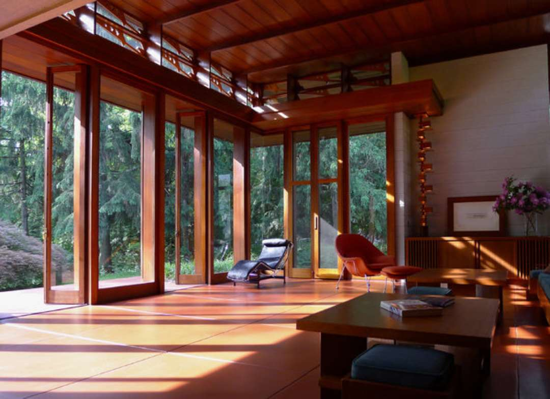 Frank lloyd wright interiors homedesignboard for Frank lloyd wright house design