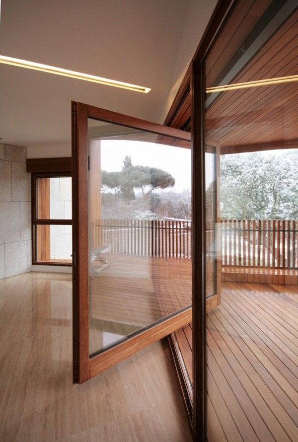 Beautiful Wood Glass Door