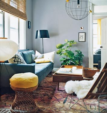 Charming Living Room With FIg Tree
