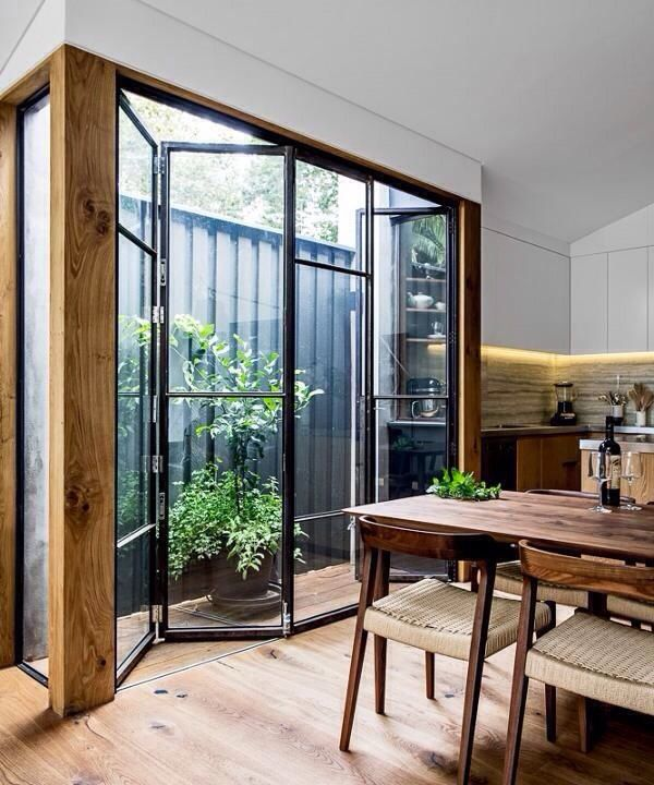 Classy Folding Glass Doors & Amazing Operable Windows | HomeDesignBoard