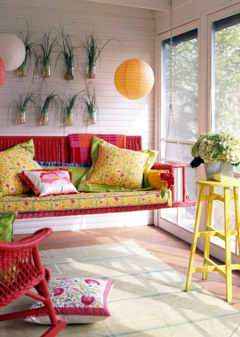 Colorful Sun Room