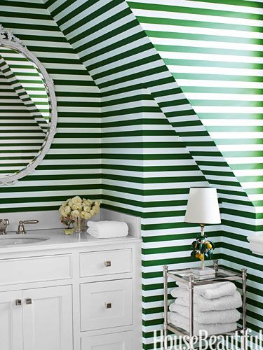 Dorothy Draper Inspired Bathroom