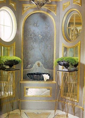 Dorothy Draper Powder Room