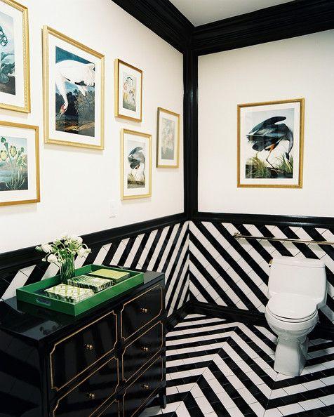 Draper Signature Espana Chest with Black and White Herringbone Tile