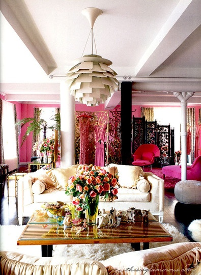 Extravagant Pink Living Room