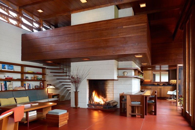 Frank Lloyd Wright Living Room