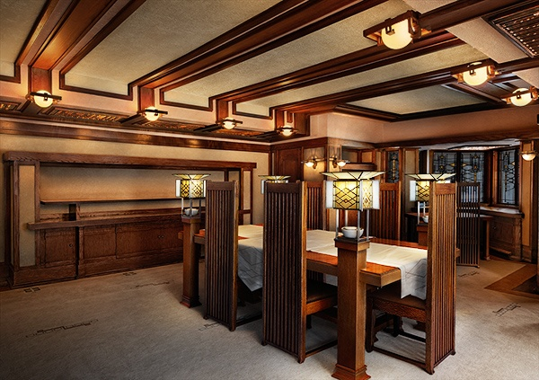 Frank Lloyd Wright Robie House Dining Room