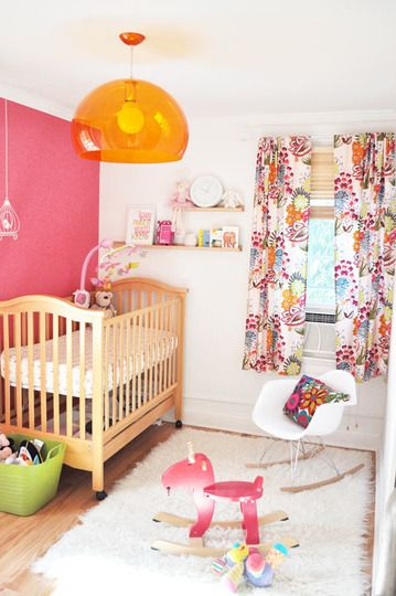 Fun Pink and Orange Nursery Colors