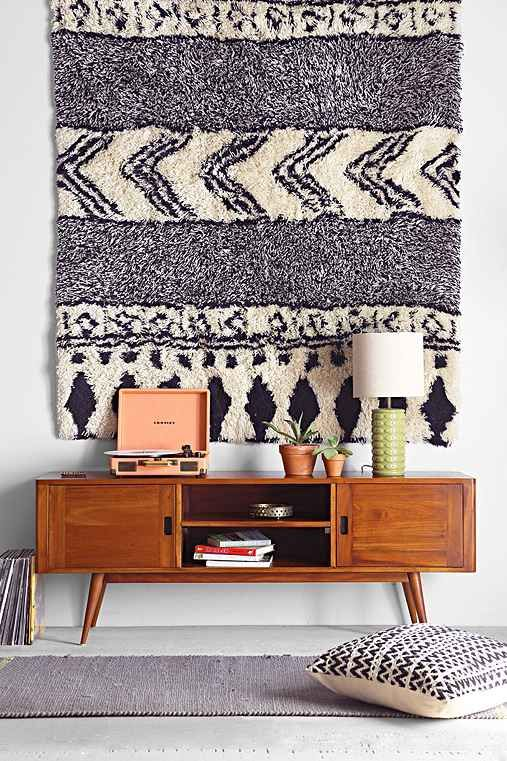 Geometric Rug on the Wall