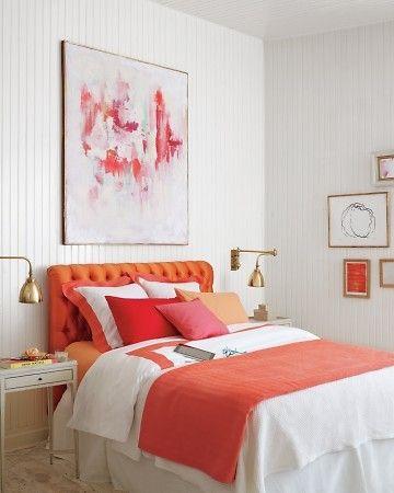 Orange and PInk Bedroom