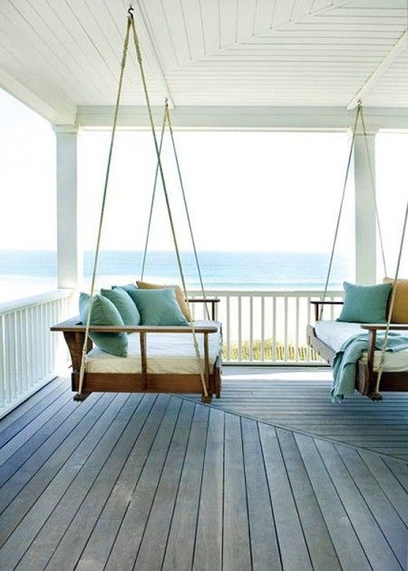 Porch Swing Seating With a View
