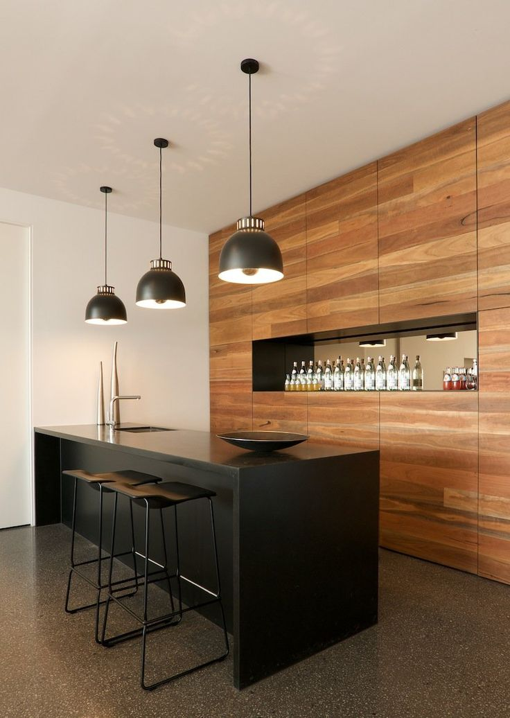 Drinks are served 6 house bar designs homedesignboard for Modern kitchen design with bar