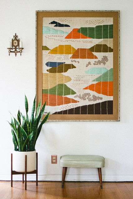Colorful Tapestry Entryway