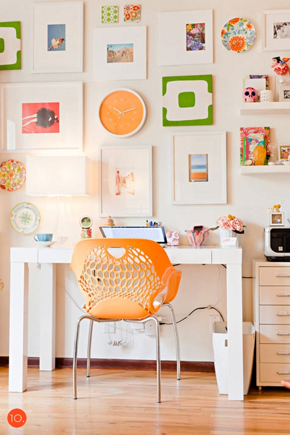 Workspace With Citrus Color Palette