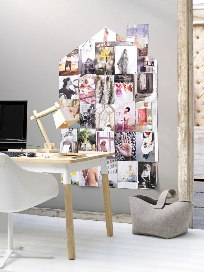Workspace With Interesting Photo Collage