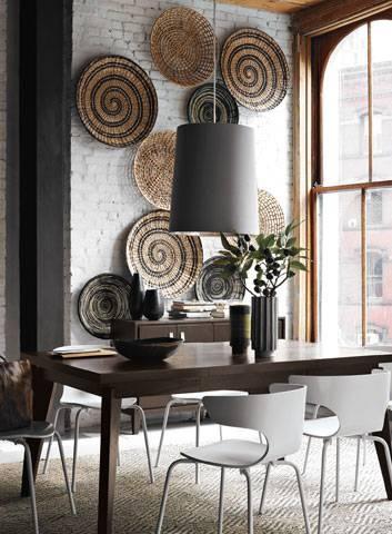 Beautiful Spiral Basket Artwall