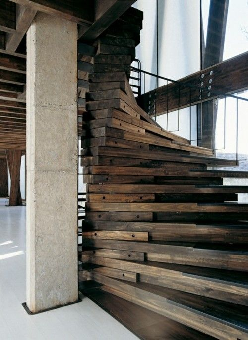 Beautiful Spiral Wood Stair