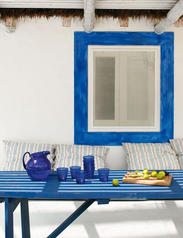 Blue Patio Table