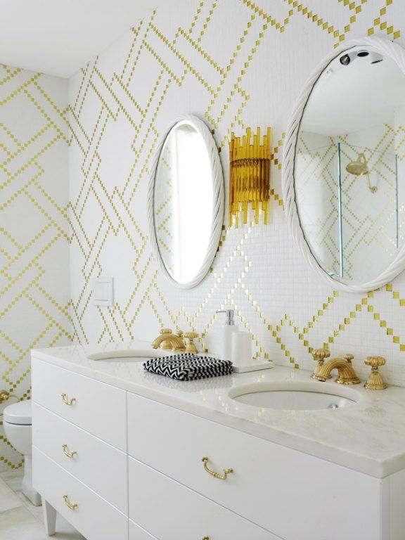 Brass and White Inspired Design