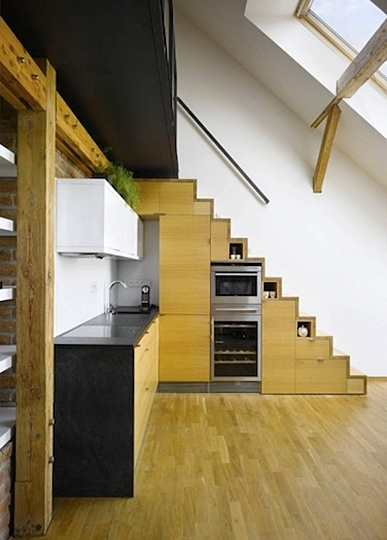 Built-In Storage Stair