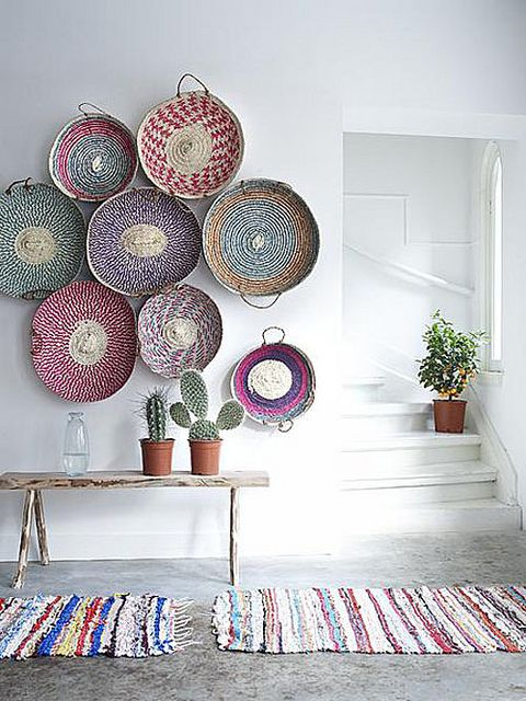 Colorful Basket Entry Wall