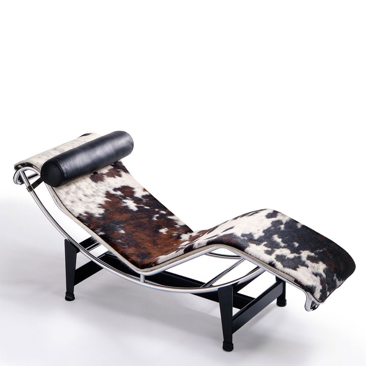 Cow Hide Chaise Lounger