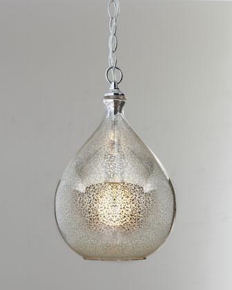 Mercury Glass Pendant Light