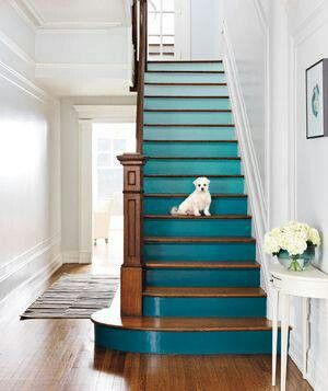 Ombre Blue Stairs
