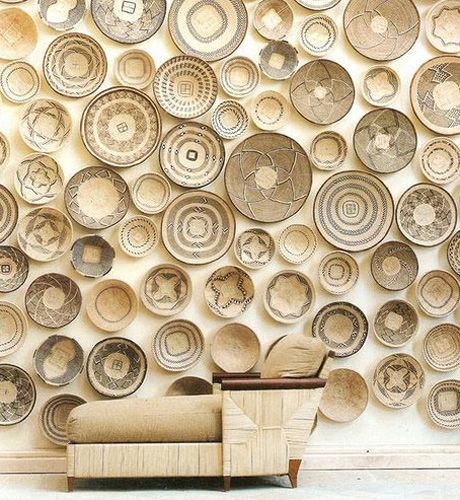 Patterned Woven Basket Wall