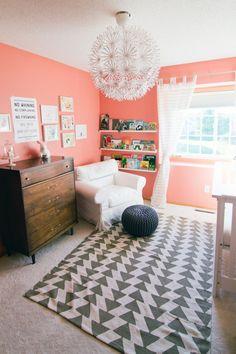 Peachy Pink and Grey