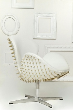 Studded Jacobsen Swan Chair