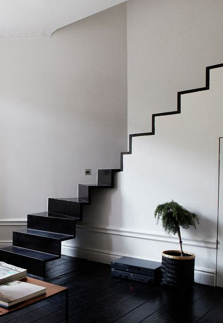 Minimal Black and White Staircase