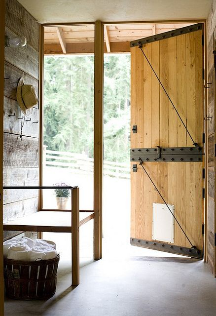 rustic yet modern entry way